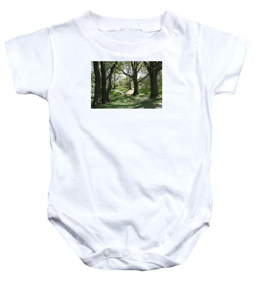 Hill 60 Cratered Landscape Baby Onesie by Travel Pics