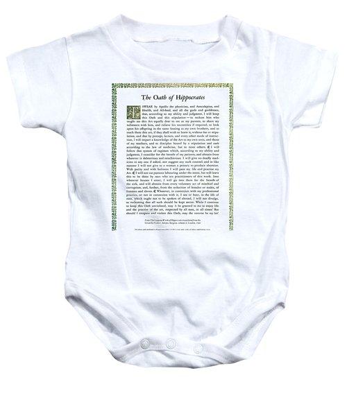 Hippocratic Oath, 1938 Baby Onesie