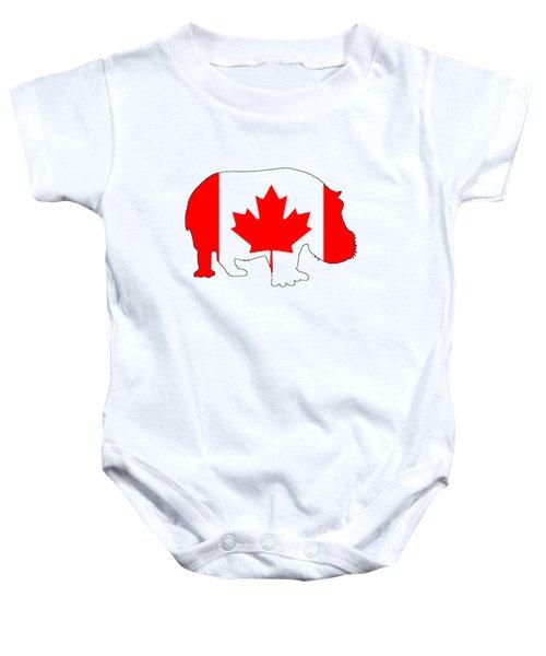 Hippopotamus Canada Baby Onesie by Mordax Furittus