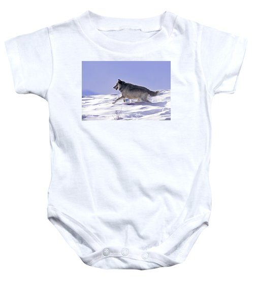 His Majesty Wolf 21m Baby Onesie