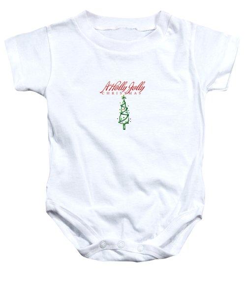 Holly Jolly Christmas Baby Onesie