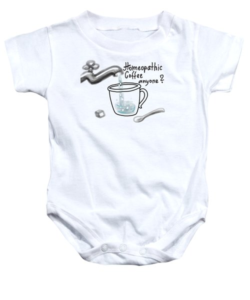 Homeopathic Coffee Baby Onesie