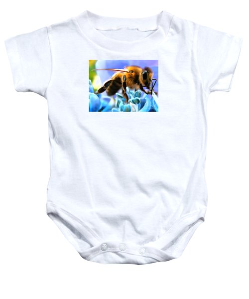 Honey Bee In Interior Design Thick Paint Baby Onesie