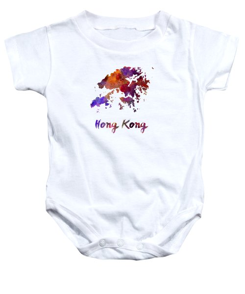 Hong Kong In Watercolor Baby Onesie by Pablo Romero