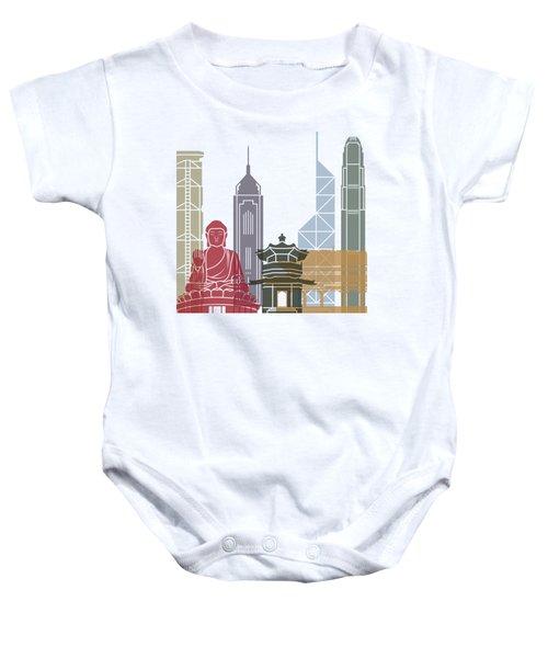 Hong Kong Skyline Poster_v2 Baby Onesie