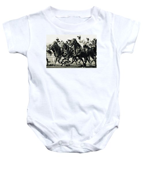 Horse Competition Vi - Horse Race Baby Onesie