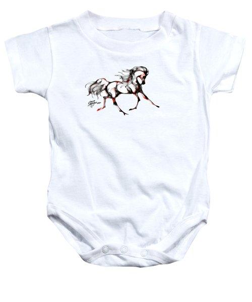 Horse In Extended Trot Baby Onesie