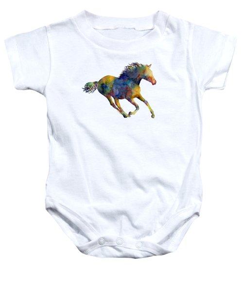 Horse Running Baby Onesie by Hailey E Herrera