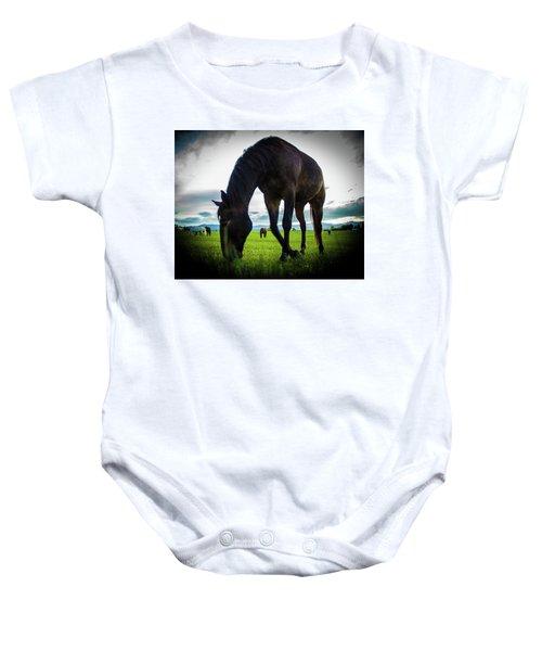 Horse Time Baby Onesie