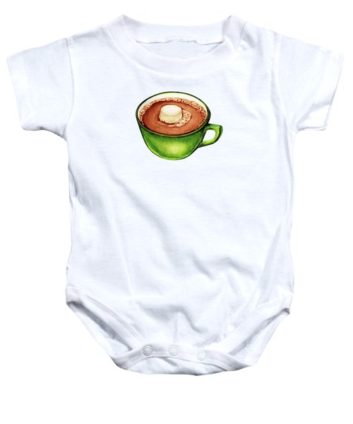 Hot Cocoa Pattern Baby Onesie
