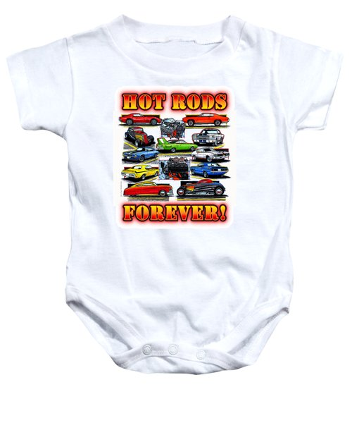 Hot Rods Forever Baby Onesie