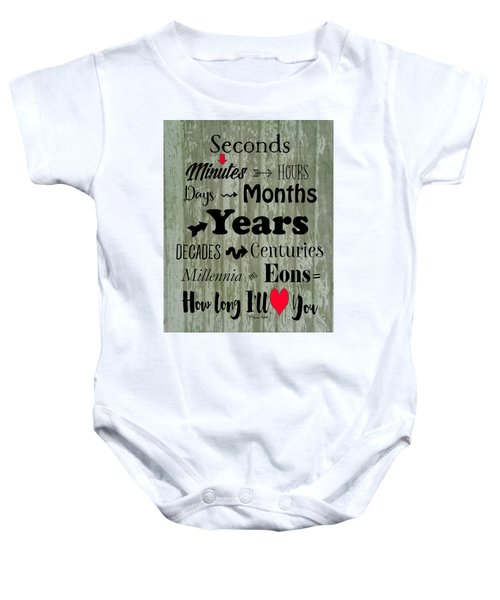 How Long I'll Love You Baby Onesie