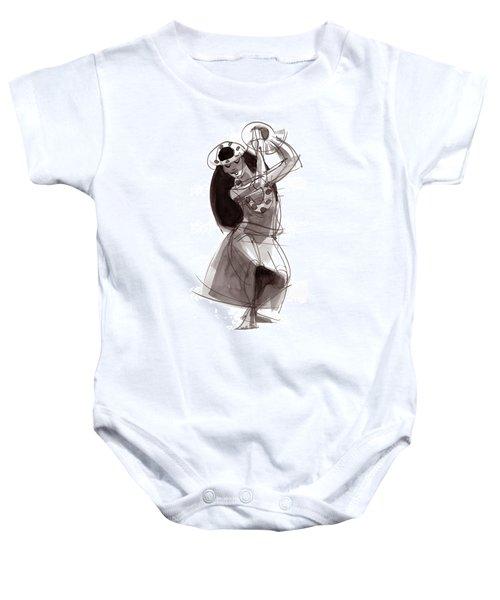 Hula Dancer Alika Baby Onesie
