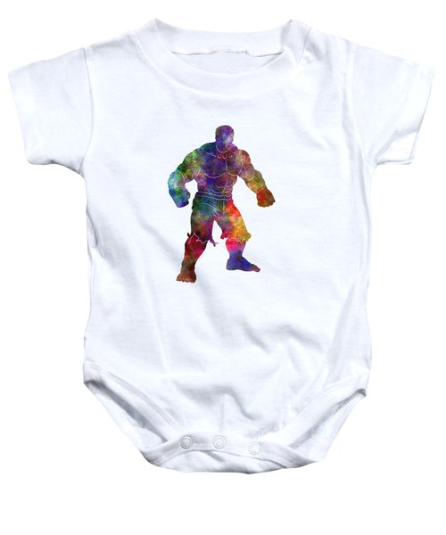 Hulk 01 In Watercolor Baby Onesie by Pablo Romero