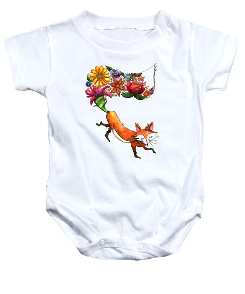Hunt Flowers Not Foxes Baby Onesie by Shelley Wallace Ylst