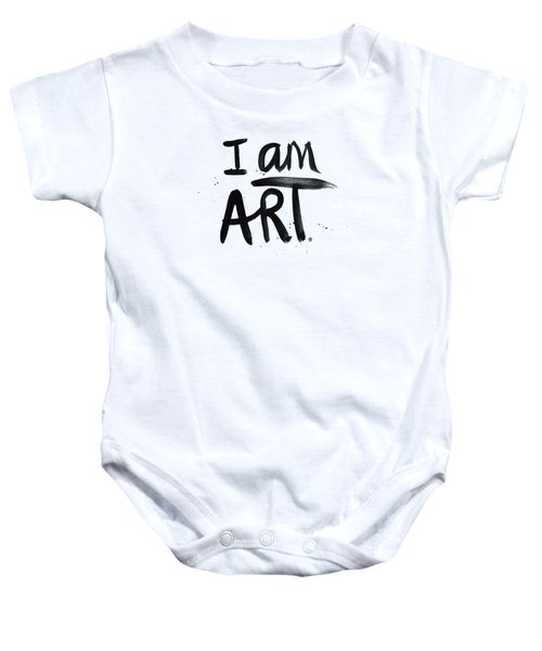 I Am Art Black Ink - Art By Linda Woods Baby Onesie