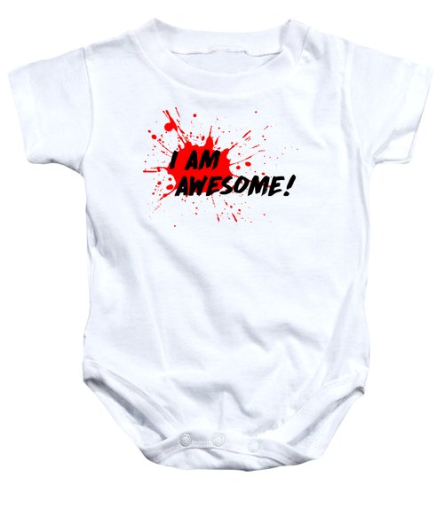 I Am Awesome - Light Background Version Baby Onesie