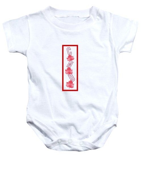 I Am Canadian - Typography Baby Onesie