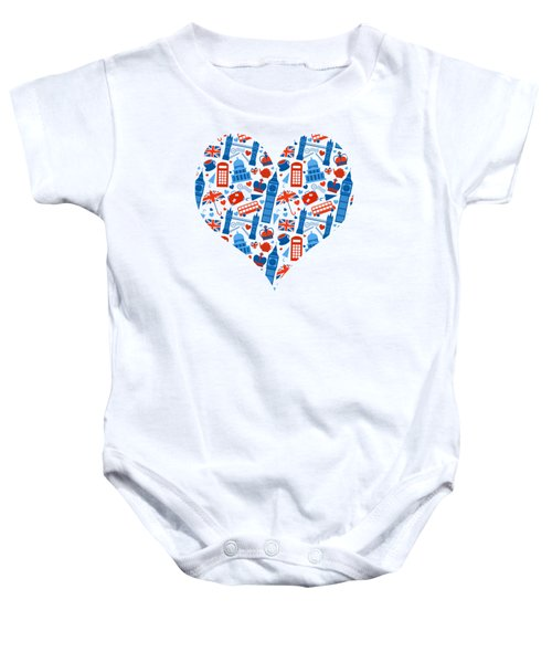 I Love England A Pattern For Anglophiles Baby Onesie