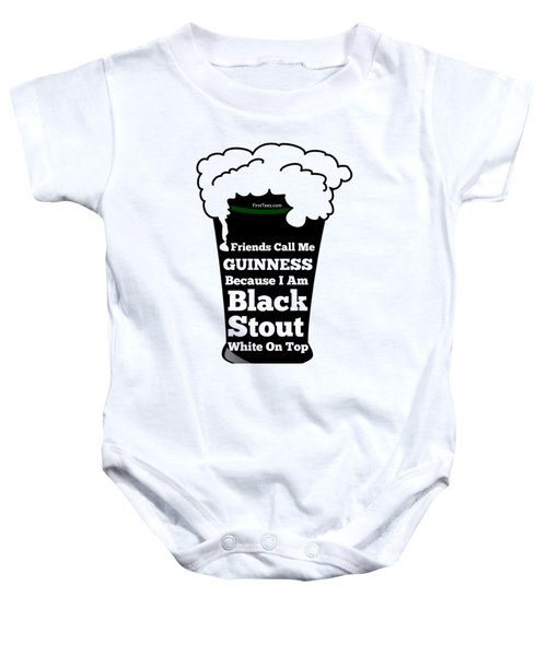 I Love Guinness  Baby Onesie by FirstTees Motivational Artwork