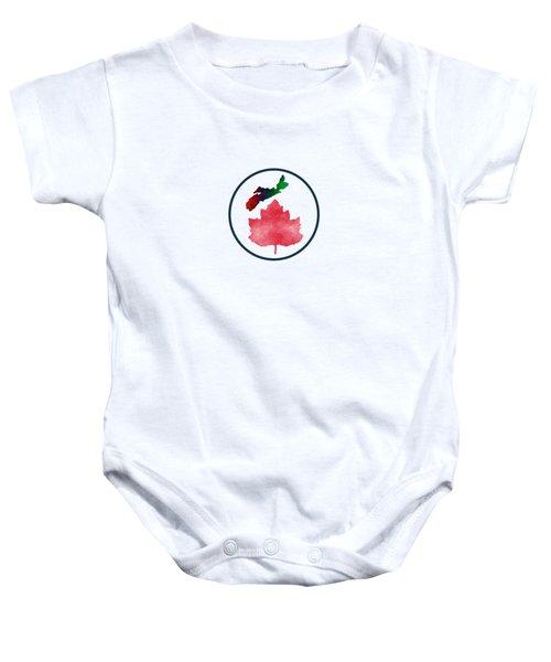 I Love Nova Scotia Canada Baby Onesie by Kathleen Sartoris
