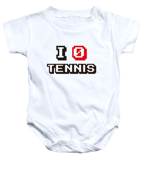 I Love Tennis Baby Onesie