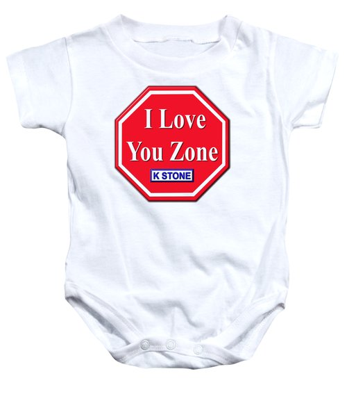 I Love You Zone Baby Onesie