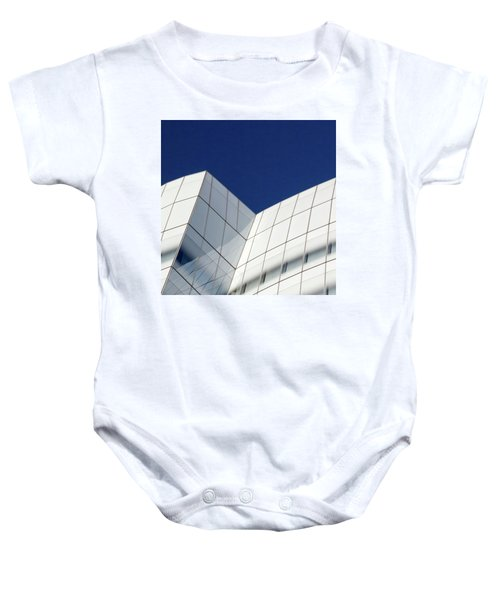 Baby Onesie featuring the photograph Iac Sky by Eric Lake