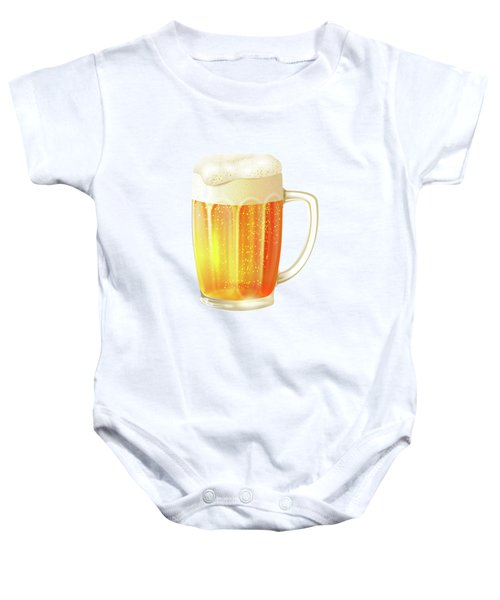 Ice Cold Beer Pattern Baby Onesie by Little Bunny Sunshine