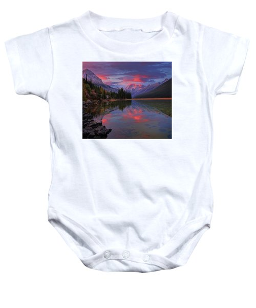 Icefields Parkway Autumn Morning Baby Onesie