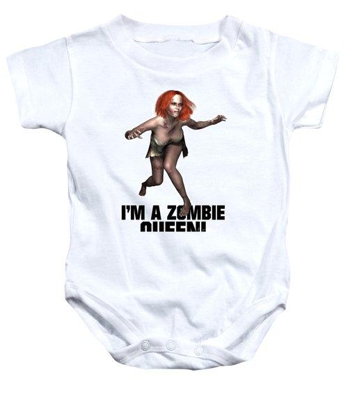 I'm A Zombie Queen Baby Onesie