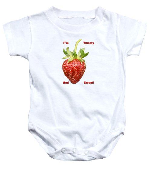Im Yummy And Sweet Baby Onesie by Thomas Young
