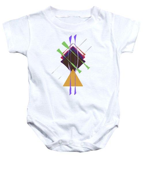Improvised Geometry #3 Baby Onesie