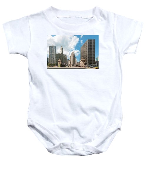 In The Middle Of Wacker And Michigan Baby Onesie