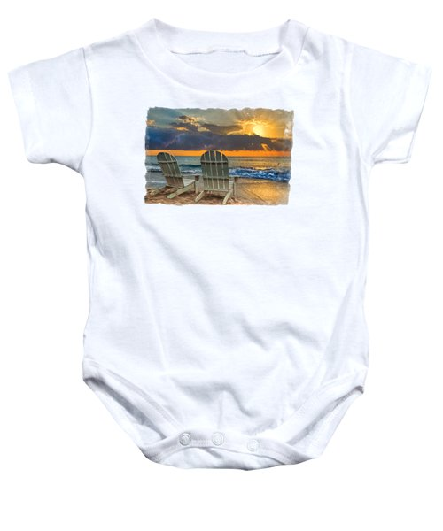In The Spotlight Bordered Baby Onesie