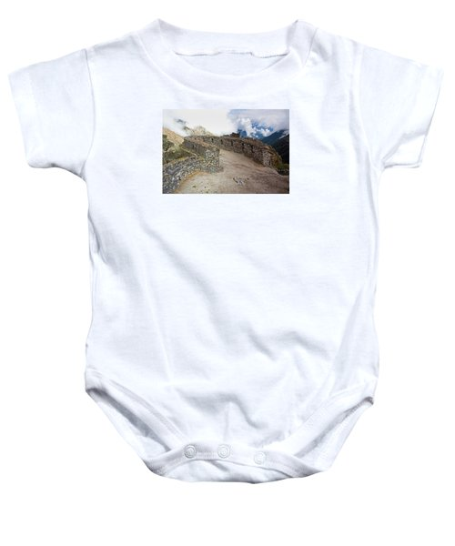 Inca Ruins In Clouds Baby Onesie