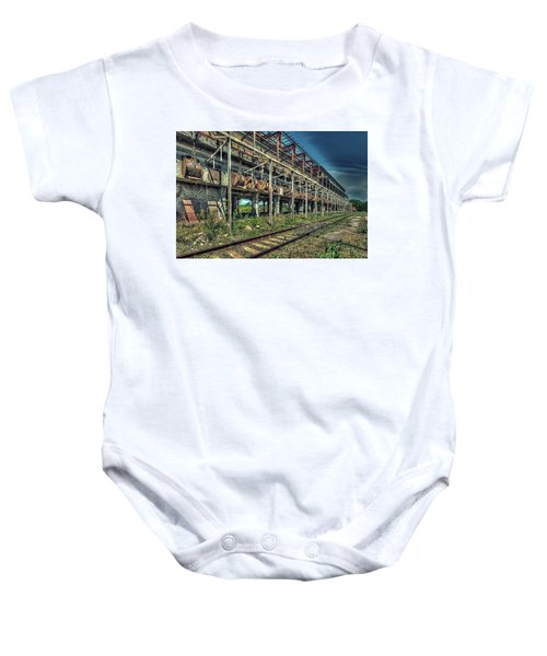 Industrial Archeology Railway Silos - Archeologia Industriale Silos Ferrovia Baby Onesie