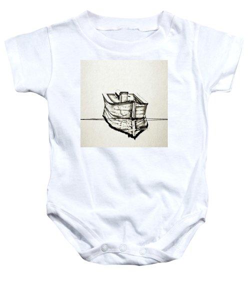 Ink Boat Baby Onesie