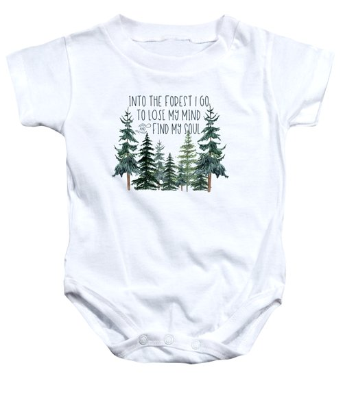 Into The Forest Baby Onesie
