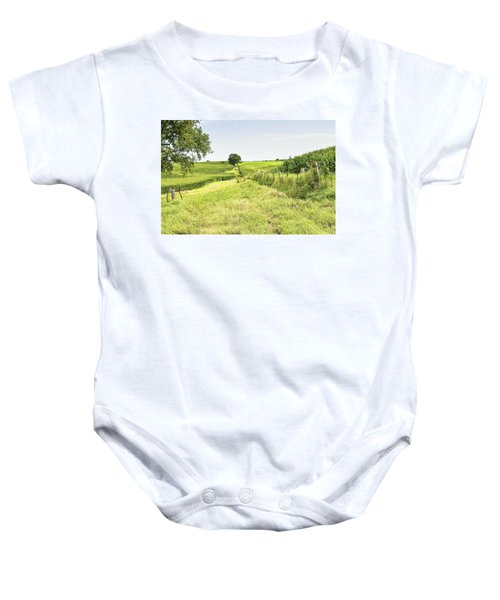 Iowa Corn Field Baby Onesie