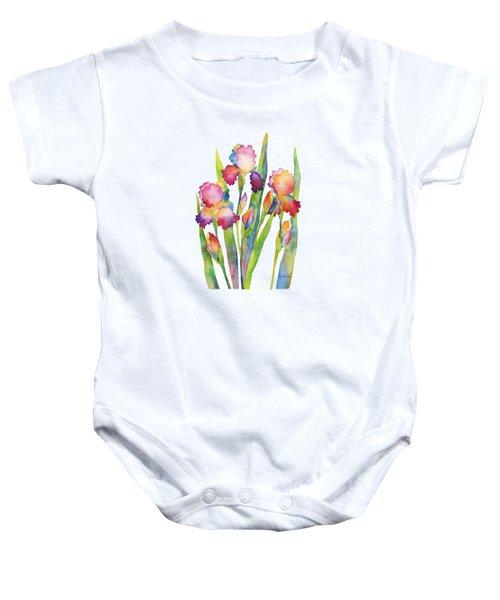 Iris Elegance Baby Onesie by Hailey E Herrera