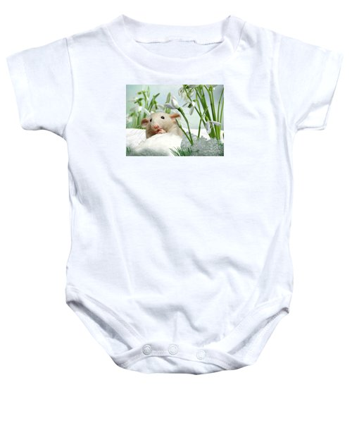 Baby Onesie featuring the mixed media Is It Spring Yet ? by Morag Bates