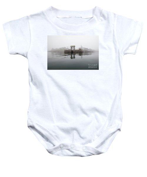Island Boat Dock Baby Onesie
