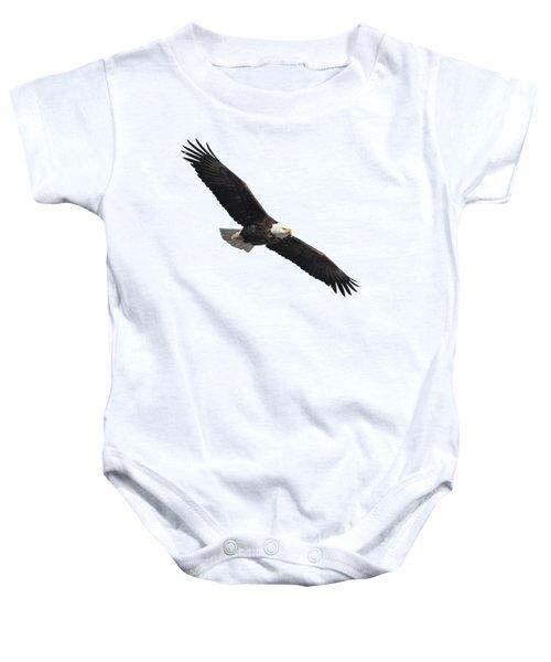 Isolated American Bald Eagle 2016-2 Baby Onesie