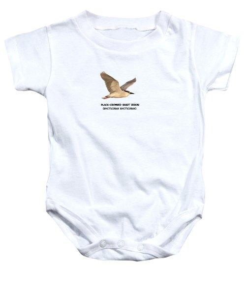 Isolated Black-crowned Night Heron 2017-6 Baby Onesie