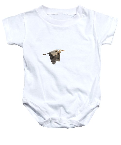 Isolated Great Blue Heron 2015-5 Baby Onesie by Thomas Young