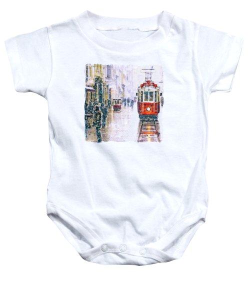 Istanbul Nostalgic Tramway Baby Onesie