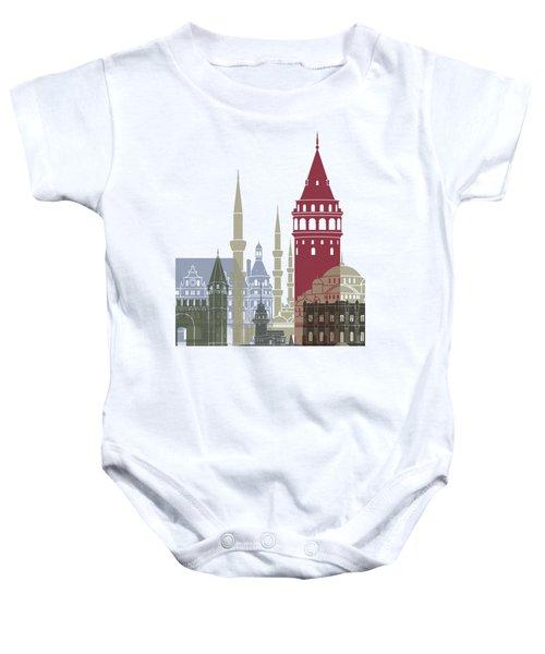 Istanbul Skyline Poster Baby Onesie