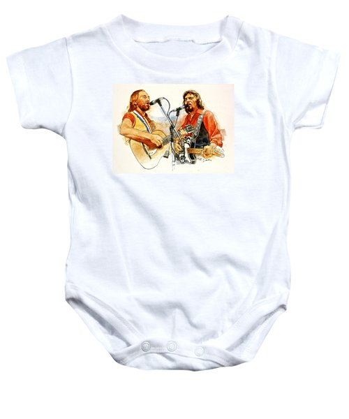 Its Country - 7  Waylon Jennings Willie Nelson Baby Onesie
