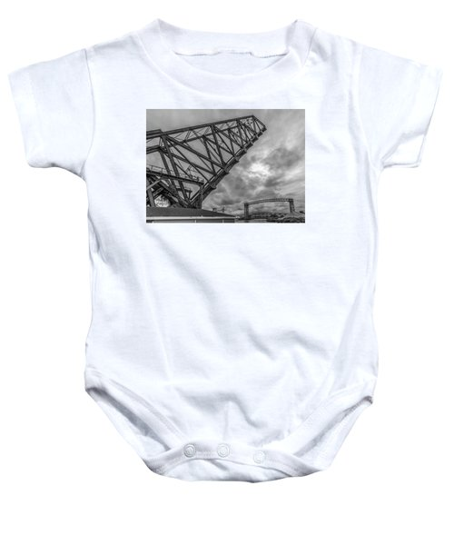 Jackknife Bridge To The Clouds B And W Baby Onesie